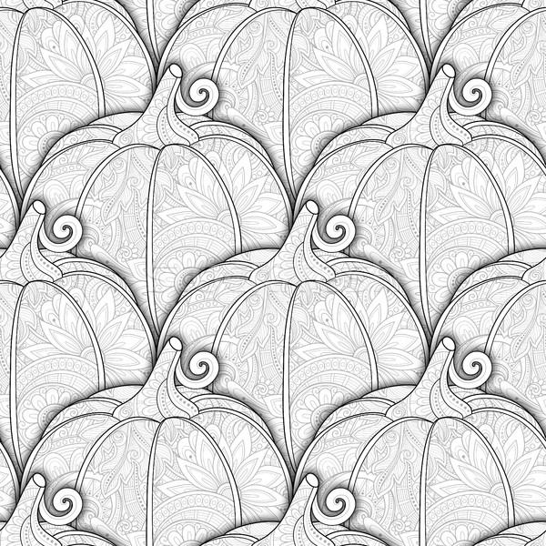 Vector monochroom decoratief pompoen eten Stockfoto © lissantee