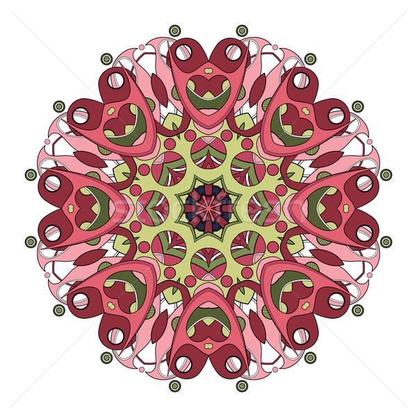 Stockfoto: Vector · mooie · gekleurd · mandala · etnische
