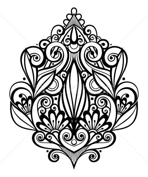 Vector Black Decorative Element in Doodle Style with Lot of Swir Stock photo © lissantee