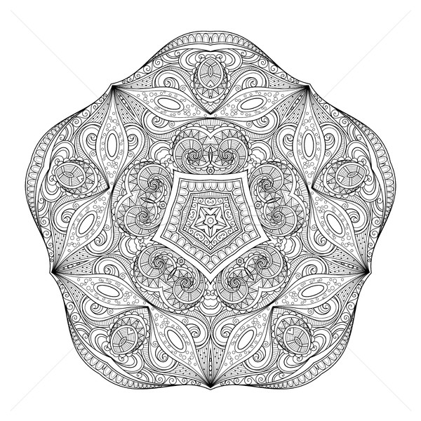 Vector Beautiful Deco Monochrome Contour Star, Patterned Design  Stock photo © lissantee
