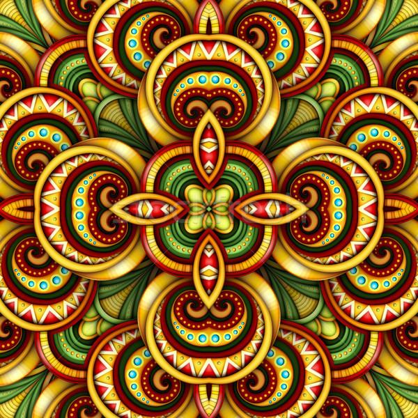 Kolorowy bezszwowy Płytka wzór fantastyczny kalejdoskop Zdjęcia stock © lissantee