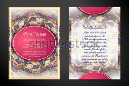 Szett függőleges bannerek web design alkotóelem gyönyörű Stock fotó © lissantee