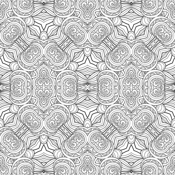 ベクトル シームレス モノクロ パターン 手描き ストックフォト © lissantee