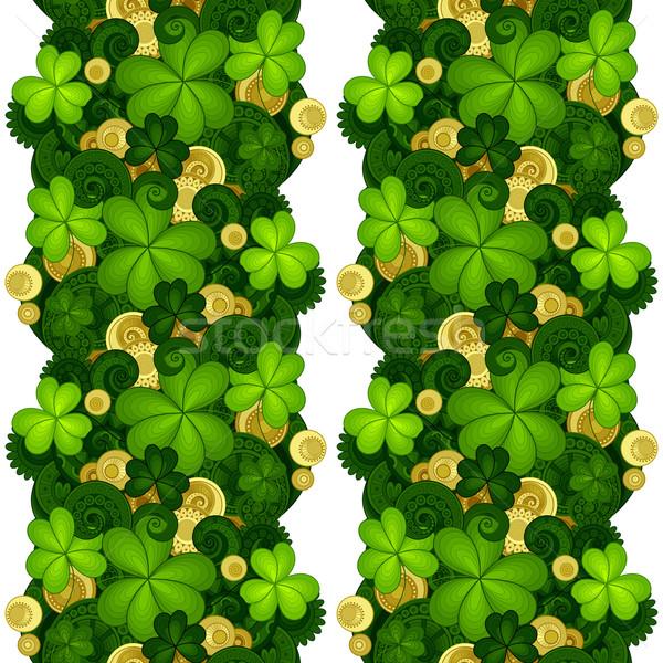 Vector sin costura floral patrón decorativo trébol Foto stock © lissantee