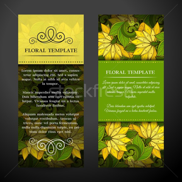 Set of Vertical Banners, Web Design Element Stock photo © lissantee