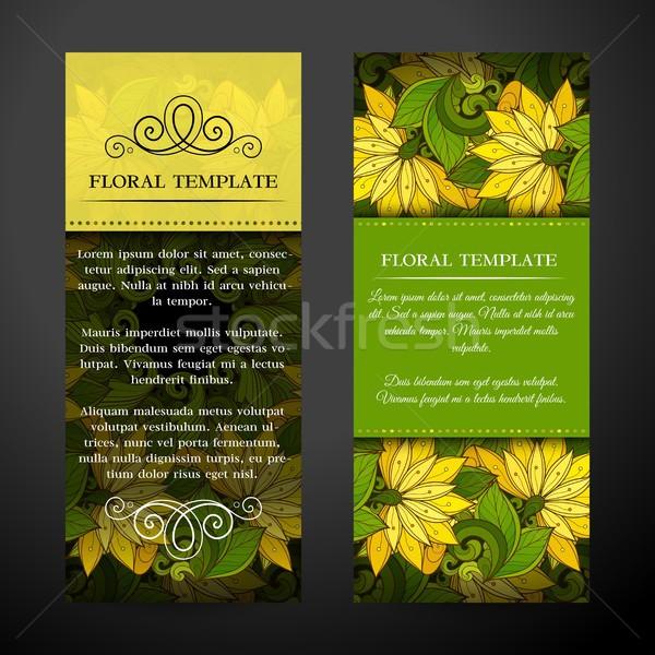 Ayarlamak dikey afişler web tasarım güzel Stok fotoğraf © lissantee