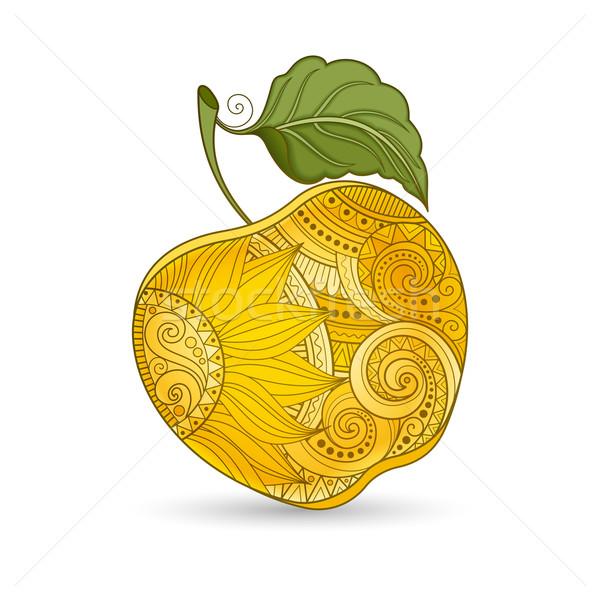 Vektör renkli elma sarı Stok fotoğraf © lissantee