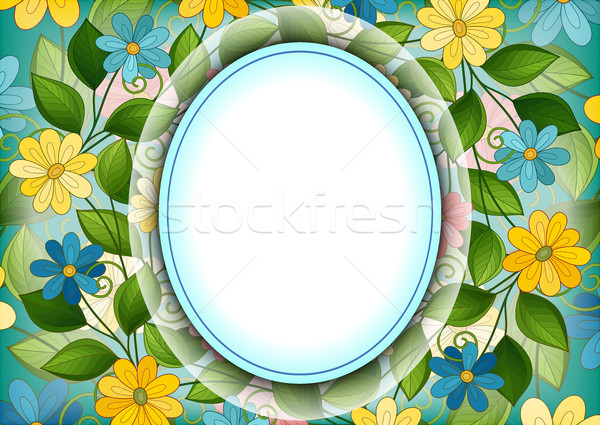 Vector gekleurd sjabloon plaats tekst Stockfoto © lissantee