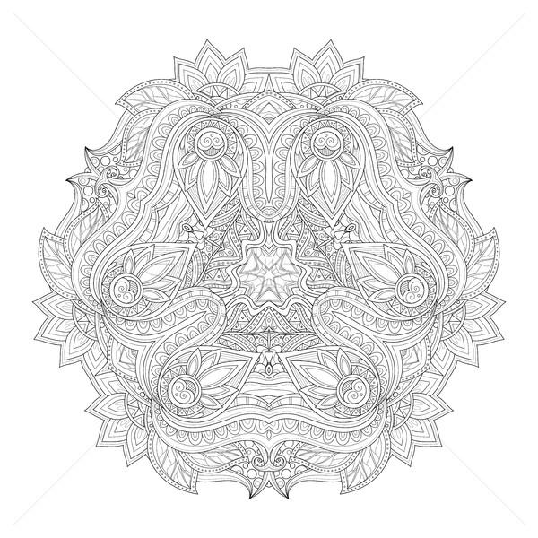 Vector Beautiful Deco Monochrome Triangle Stock photo © lissantee