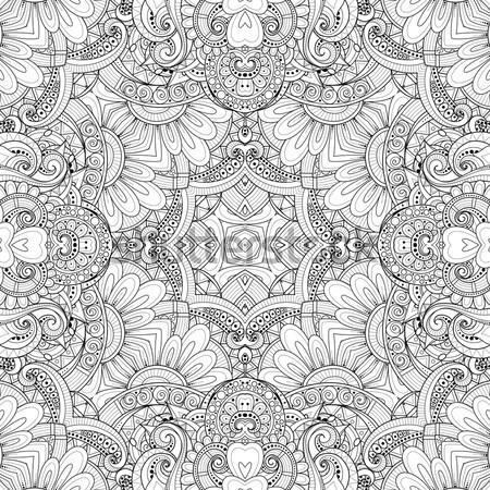 ベクトル シームレス 抽象的な モノクロ 部族 パターン ストックフォト © lissantee