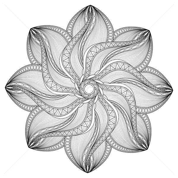 Vektor schönen monochrome Kontur Mandala Stock foto © lissantee