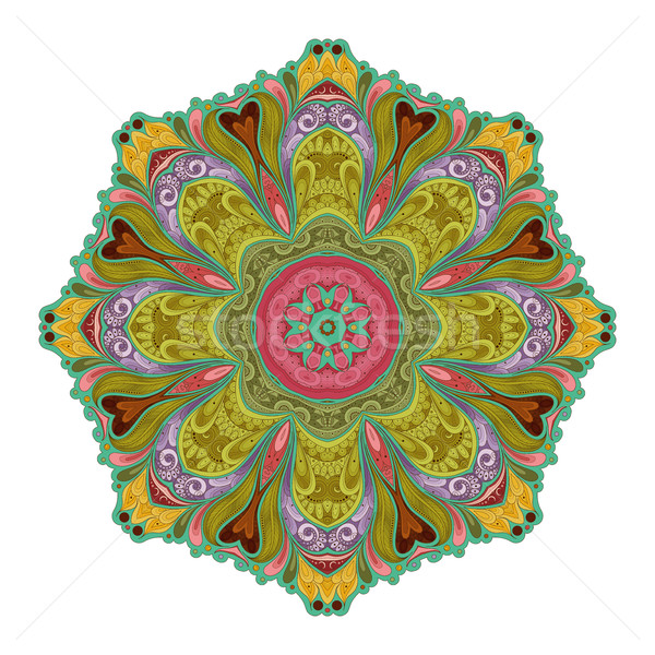 Vetor belo contorno mandala Foto stock © lissantee