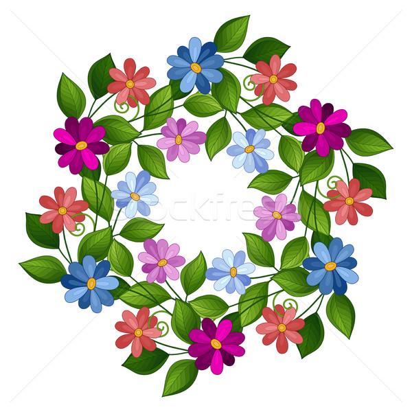 Vetor floral ornamento coroa Foto stock © lissantee