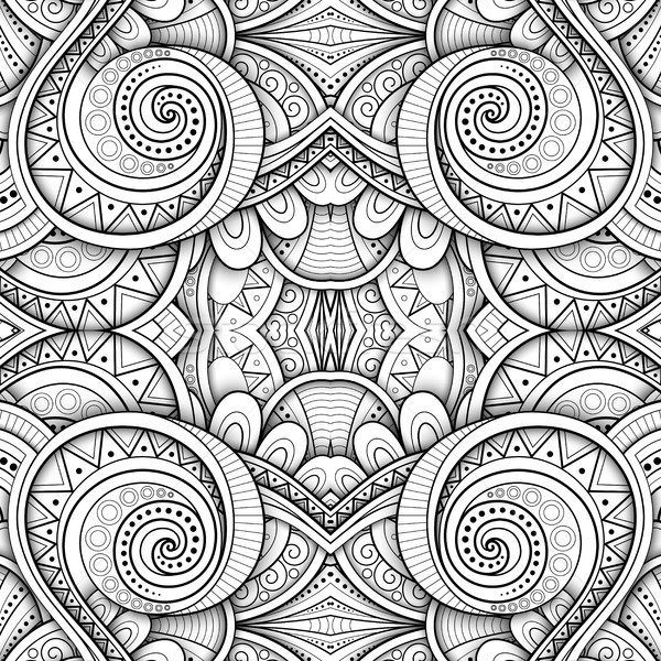 Monochrome Seamless Tile Pattern, Fancy Kaleidoscope Stock photo © lissantee