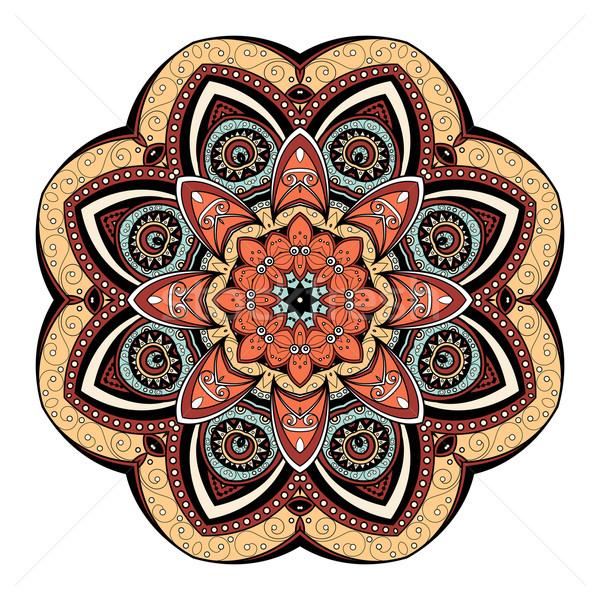 Vektor schönen Mandala ethnischen Stock foto © lissantee