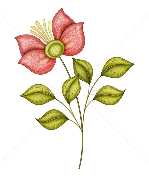 Сток-фото: вектора · красивой · цветок · вектор · цветок · объект · изолированный