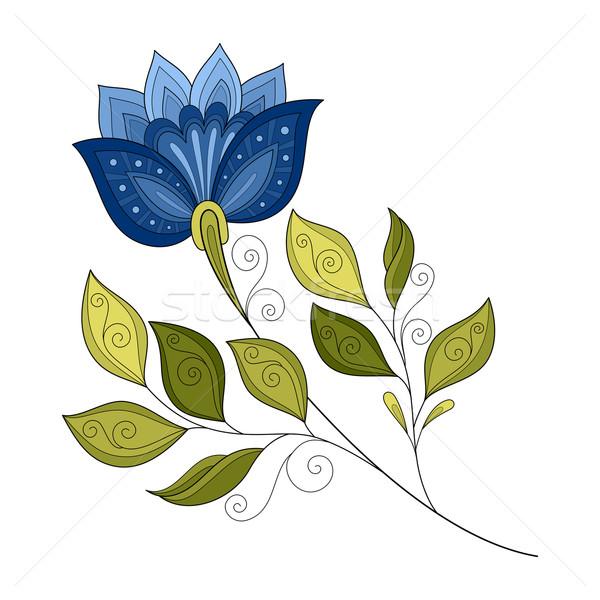 Vetor belo contorno flor do vetor flor Foto stock © lissantee