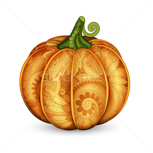 Vector Colored Decorative Pumpkin with Beautiful Pattern Stock photo © lissantee