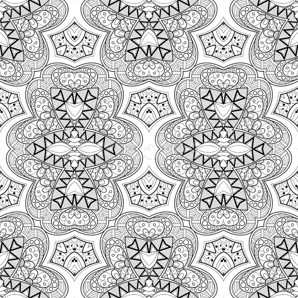 Vetor sem costura monocromático padrão Foto stock © lissantee