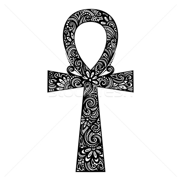 Stock photo: Vector Egyptian Cross (Ankh)