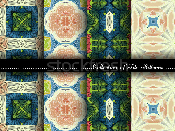 Stock photo: Vector Collection of Seamless Vintage Patterns