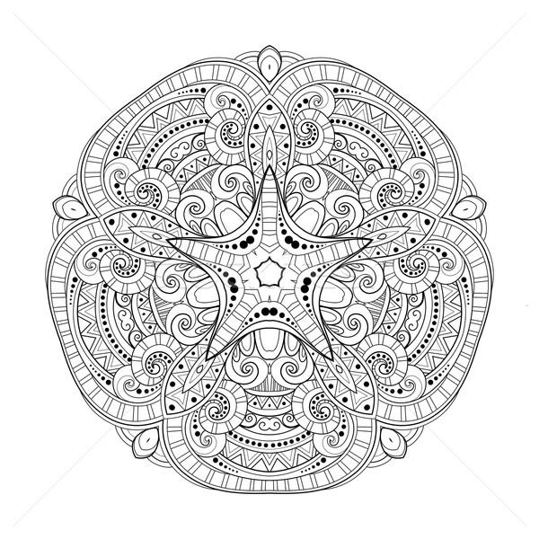 Vector mooie monochroom contour star ontwerp Stockfoto © lissantee