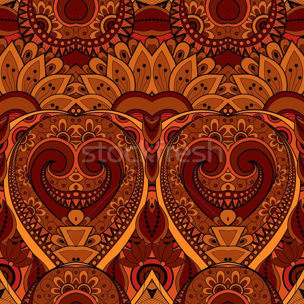 ベクトル シームレス 抽象的な 部族 パターン 手描き ストックフォト © lissantee