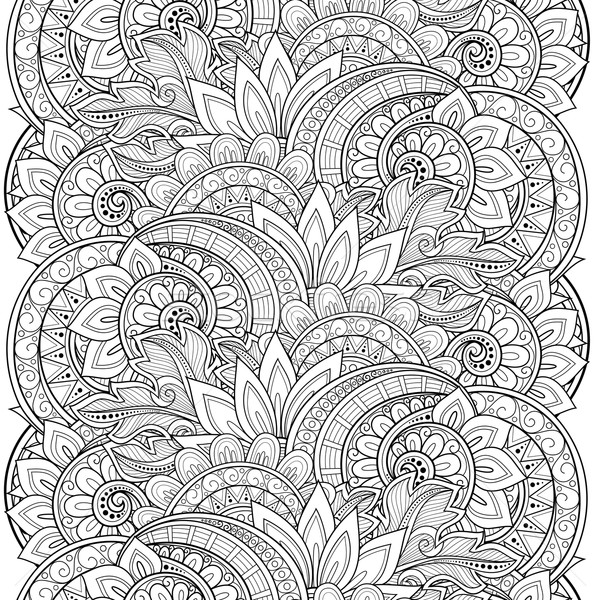Stock photo: Vector Seamless Monochrome Floral Pattern