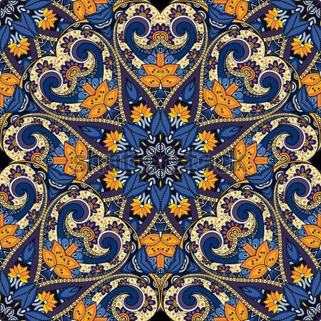 Vektor abstrakten tribal Muster Hand gezeichnet Stock foto © lissantee