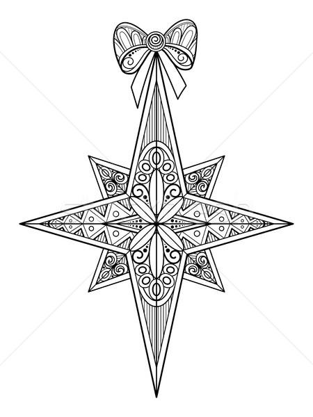 Monocromático natal estrela arco feliz ano novo Foto stock © lissantee