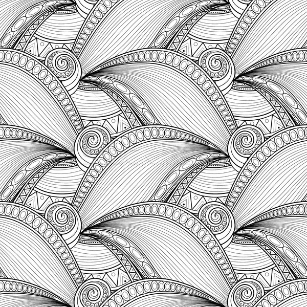Vector Monochrome Wave Seamless Pattern Stock photo © lissantee