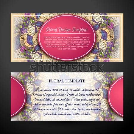 Ayarlamak yatay afişler web tasarım güzel Stok fotoğraf © lissantee