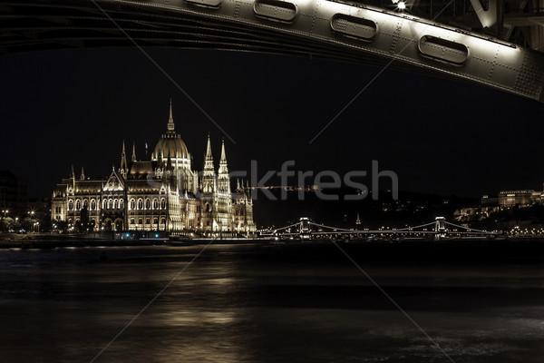 Parlement Boedapest reizen gebouwen nacht Stockfoto © LIstvan