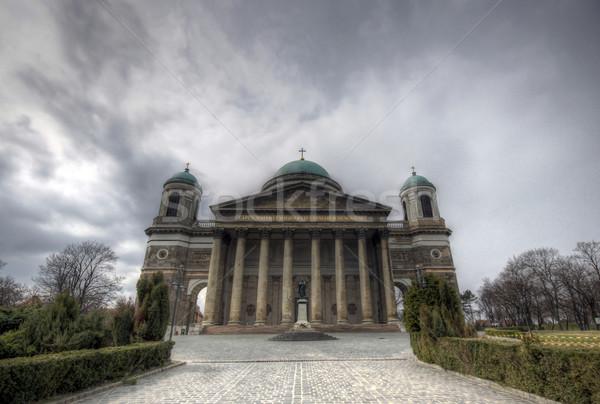 バシリカ ハンガリー 空 風景 色 アーキテクチャ ストックフォト © LIstvan