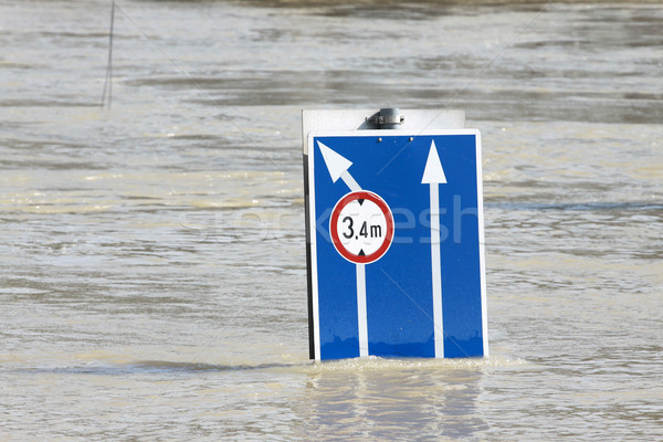 наводнения город Будапешт воды дороги улице Сток-фото © LIstvan