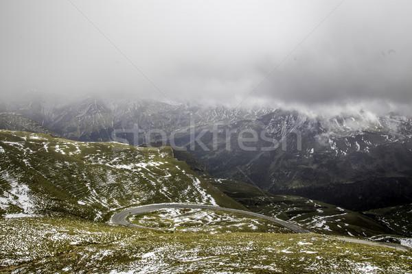 Gyönyörű kilátás alpesi panorámakép út Ausztria Stock fotó © LIstvan