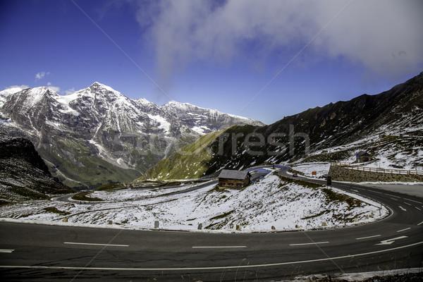 красивой мнение альпийский панорамный дороги Австрия Сток-фото © LIstvan