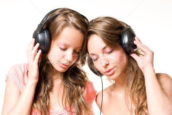 Favorito sintonia dois belo jovem Foto stock © lithian