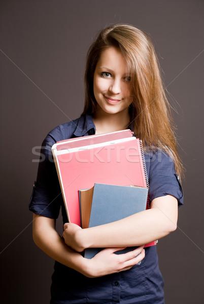 красивой улыбаясь молодые студент девушки Сток-фото © lithian