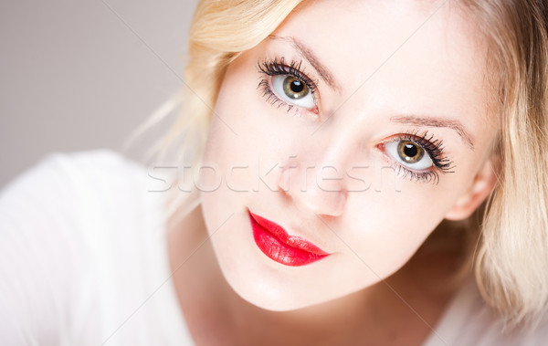 Emotional blond. Stock photo © lithian