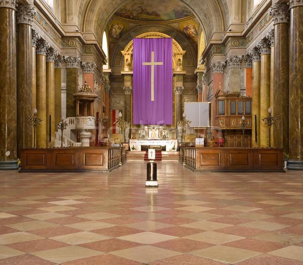 Mooie majestueus kerk interieur basiliek Stockfoto © lithian