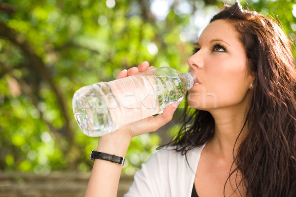 Water is the healthiest drink. Stock photo © lithian