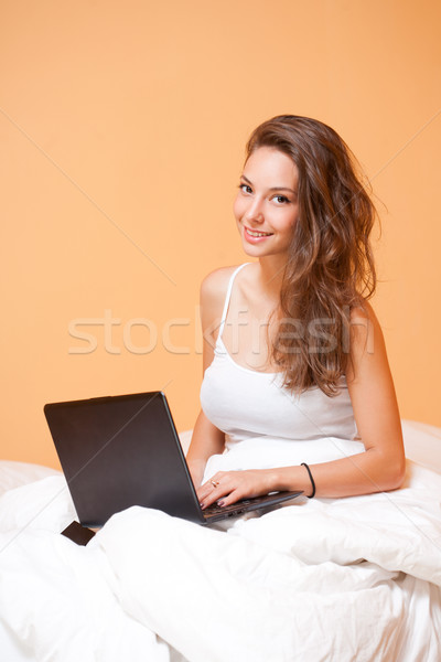 Home leisure browsing. Stock photo © lithian