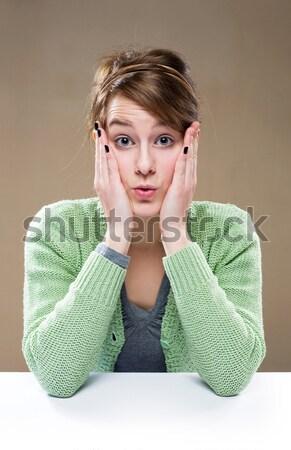 Jovem morena mulher Foto stock © lithian