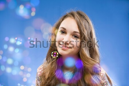 Admiring the bubbles. Stock photo © lithian