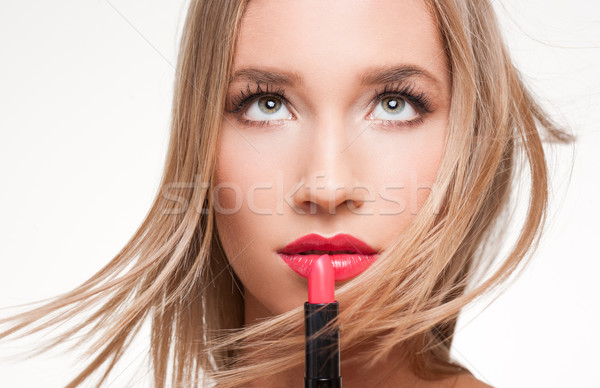 Gorgeous blond in makeup. Stock photo © lithian