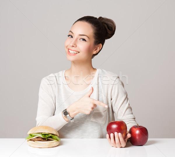 диета совет портрет молодые брюнетка красоту Сток-фото © lithian