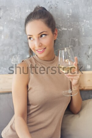 Wine lover. Stock photo © lithian