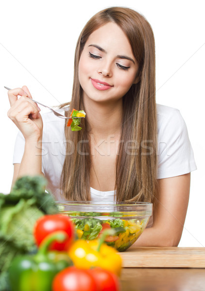 The health food junkie. Stock photo © lithian