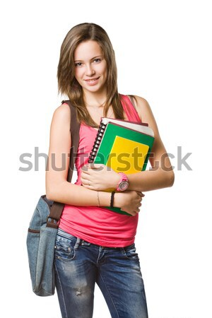 Stock photo: Cheerful young student.